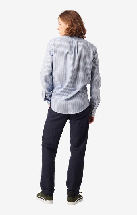 Boomerang - Charlie Striped Shirt Electric Blue