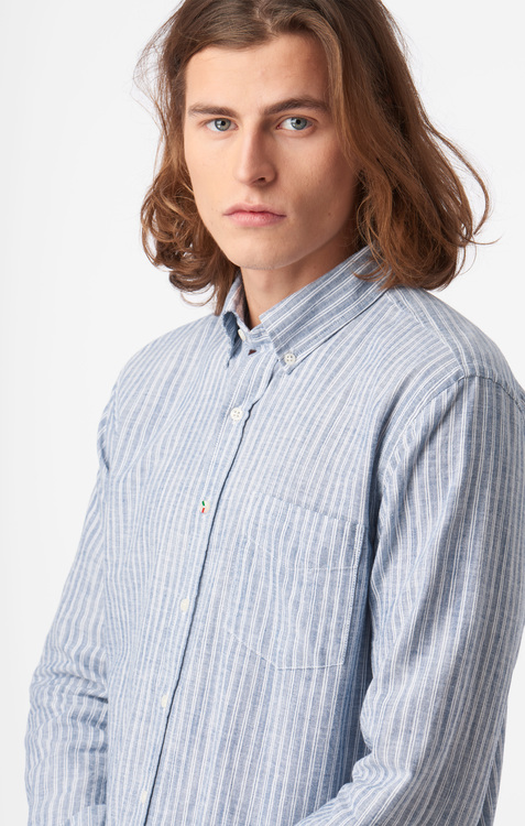 Boomerang - Charlie Striped Shirt Electric Blue