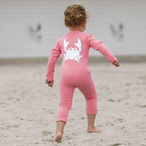 Petit Crabe - Lou Crab Sunsuit L/S, Watermelon