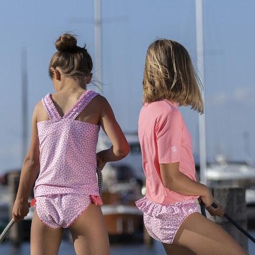 Petit Crabe - Gia Wavy Bikini Pants, Rose Flowers