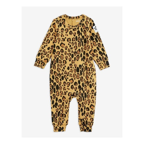 Mini Rodini - Basic Leopard Jumpsuit Beige
