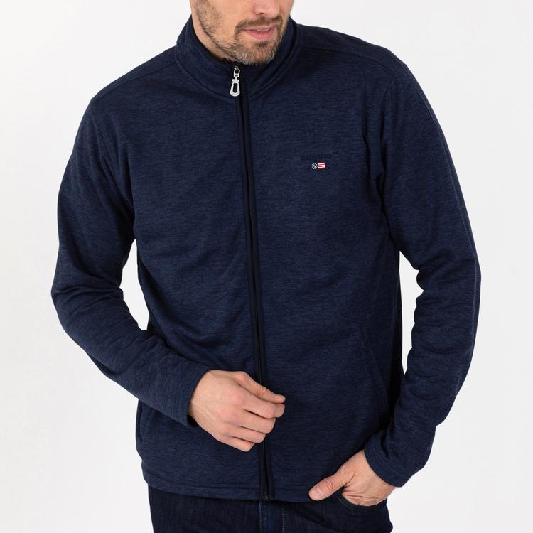 Sebago - Niclas Zip Fleece Jacket, Dk Navy