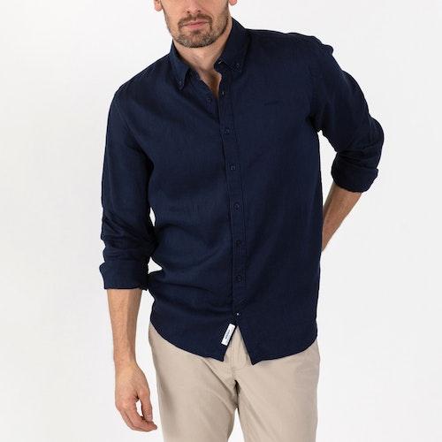 Sebago - Anthony Linen Shirt, Dk Navy