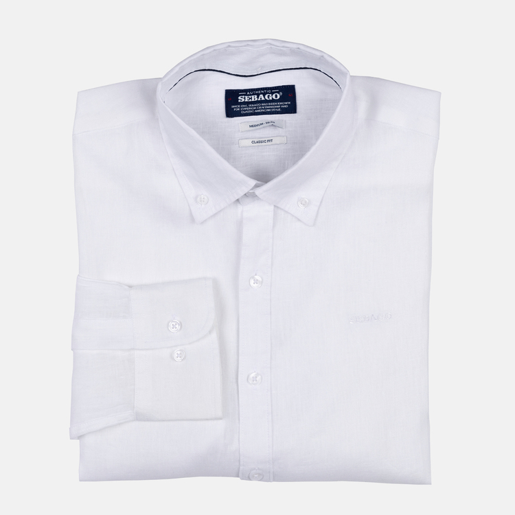 Sebago - Anthony Linen Shirt, White
