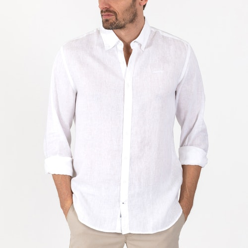 Sebago - Anthony Linen Shirt, White