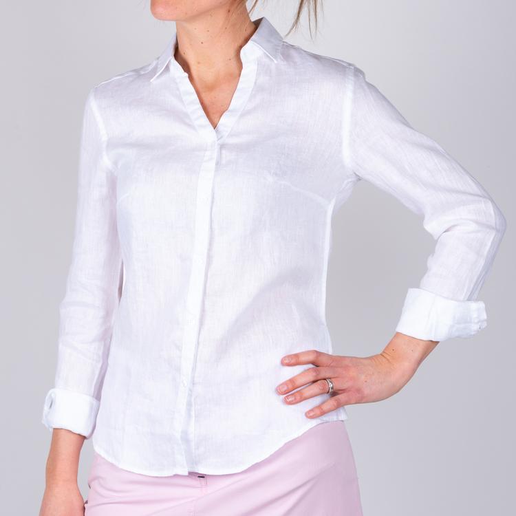 Sebago - Bianca Linen Shirt, White