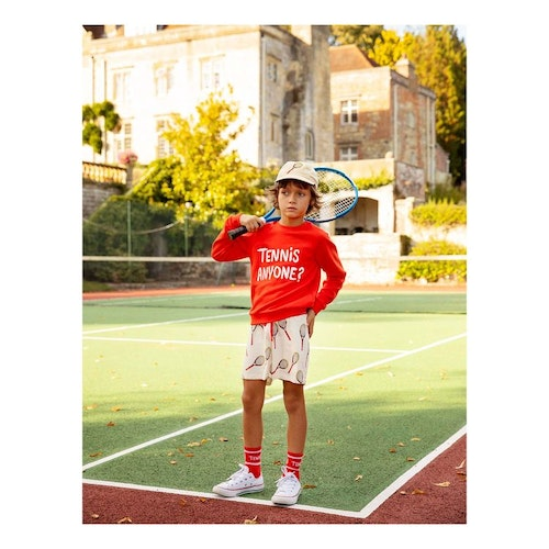 Mini Rodini - Tennis Anyone SP Sweatshirt, Red
