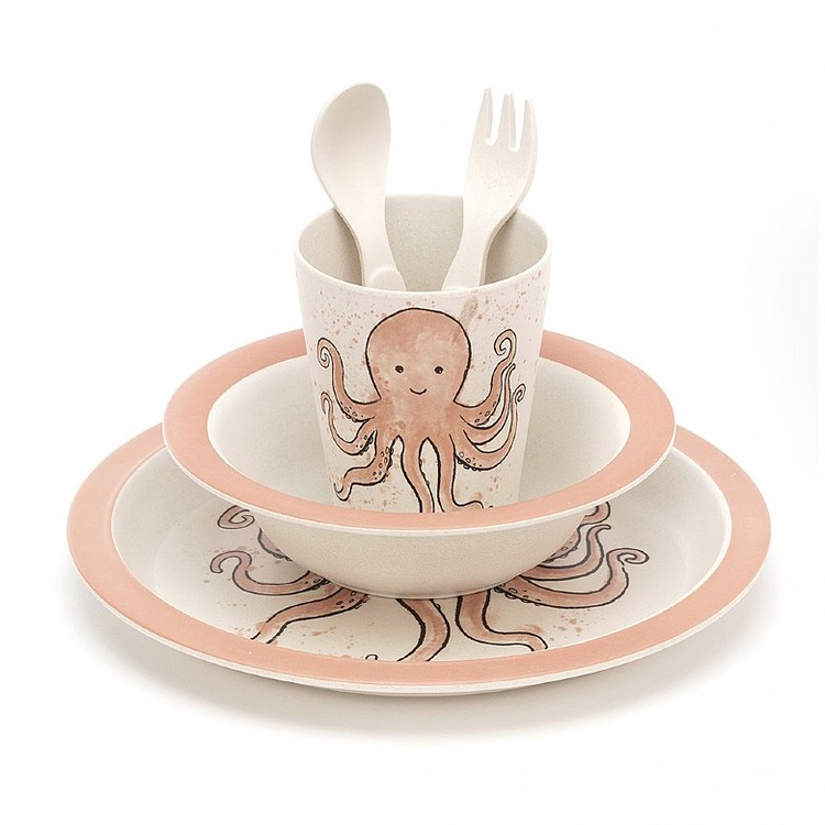 Jellycat - Odell Octopus Bamboo Set
