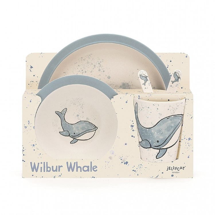 Jellycat - Wilbur Whale Bamboo Set