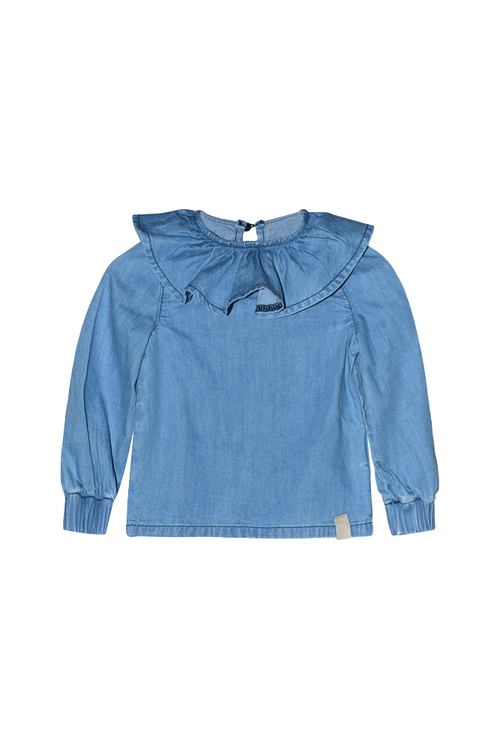 I Dig Denim - Billie Denim Blouse, Blue
