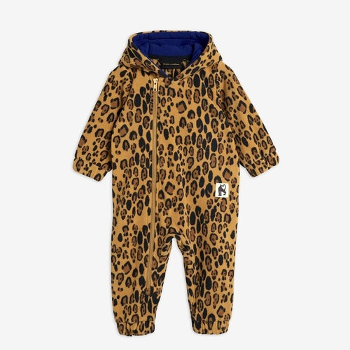 Mini Rodini - Leopard Fleece Onesie
