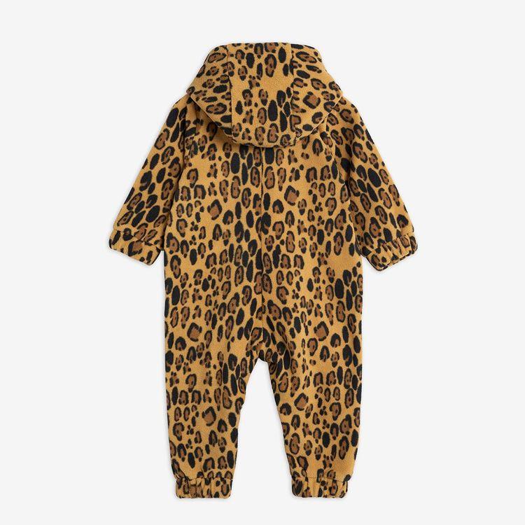Mini Rodini - Leopard Fleece Onesie
