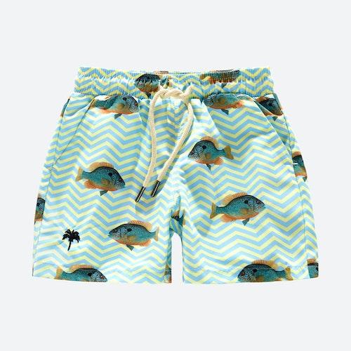 OAS - Kids Blue Fish Swim Shorts