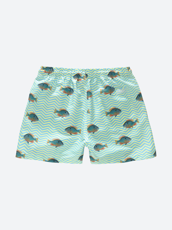 OAS - Blue Fish Swim Shorts