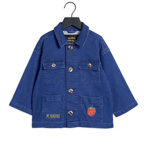 Mini Rodini - Denim Strawberry Safari Jacket