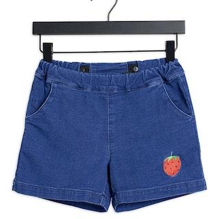 Mini Rodini - Denim Strawberry Shorts