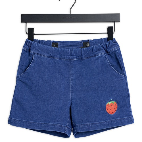 Mini Rodini - Denim Strawberry Shorts