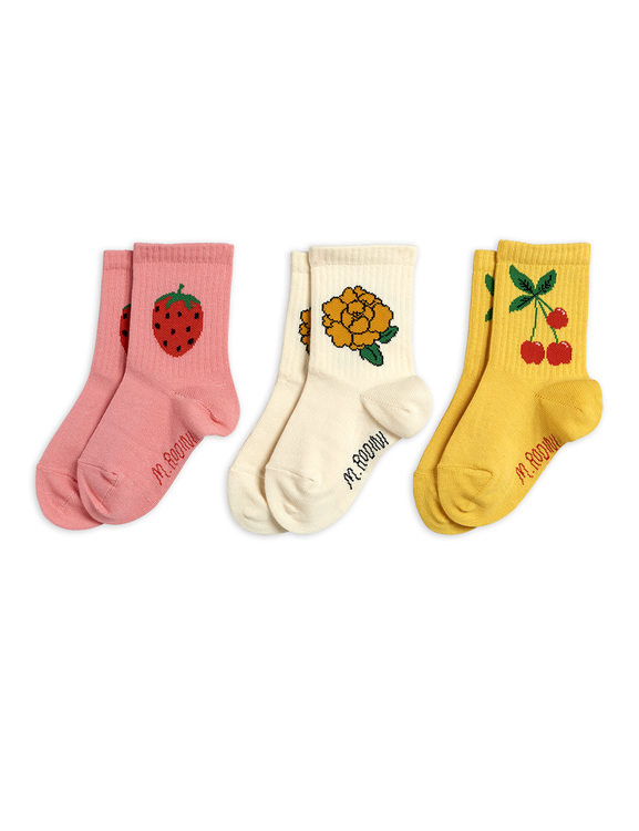 Mini Rodini - Cherry & Co 3-pack Socks