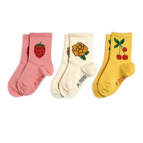 Mini Rodini - Cherry & Co 3-pack Socks