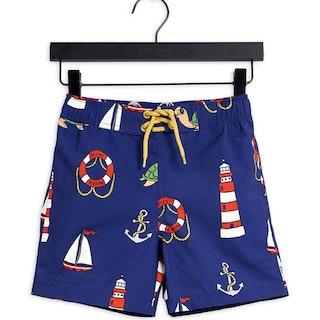 Turtle Float Swim Shorts, Navy
