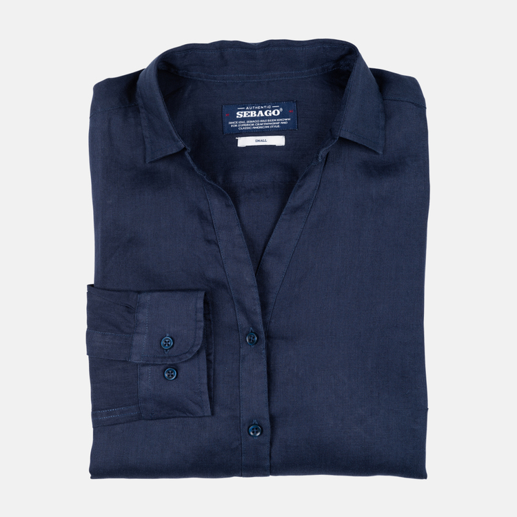 Sebago - Bianca Linen Shirt, Navy