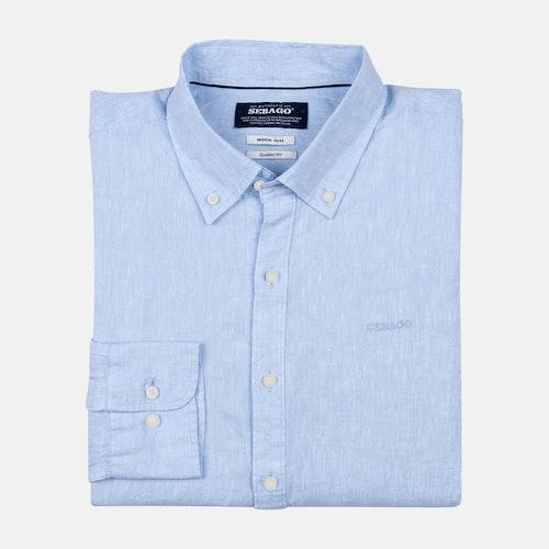 Sebago - Anthony Linen Shirt, Light Blue