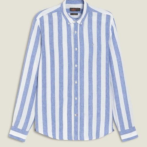 Morris - Donatien Stripe Linen Shirt LS