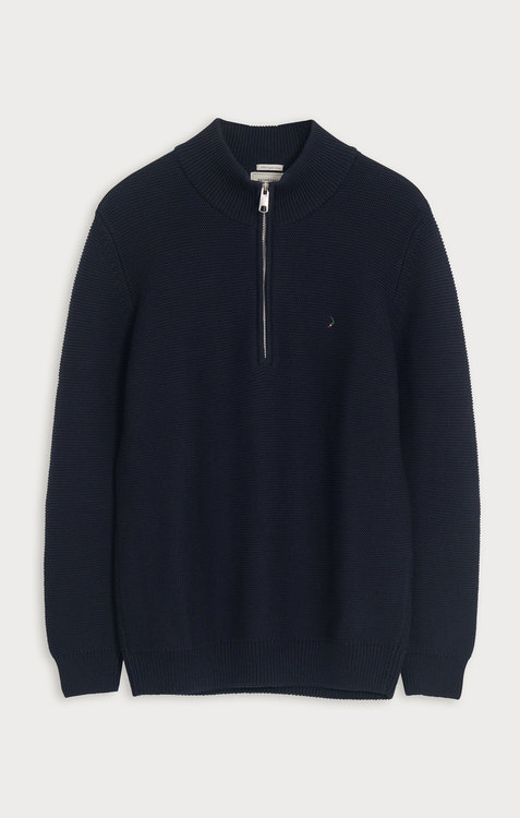 Boomerang - Albin Half Zip Sweater, Midnight Blue