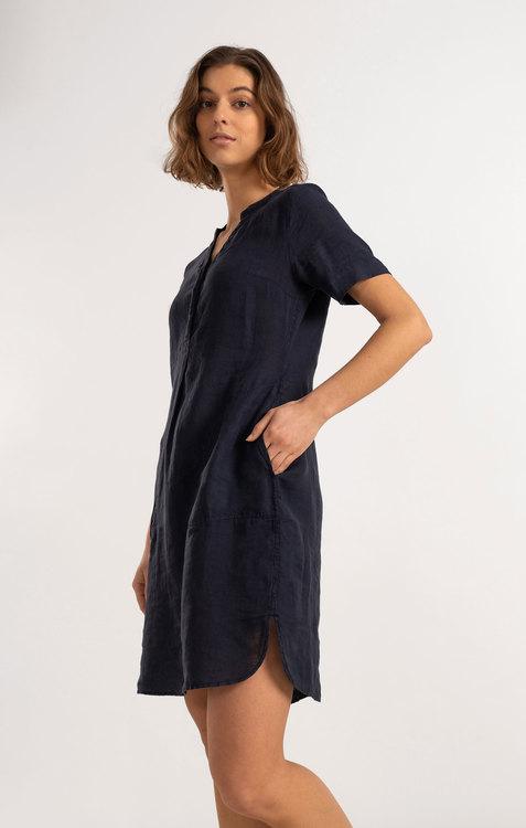 Boomerang - Bettan Linen Dress, Night Sky