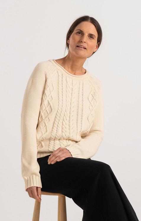 Boomerang - Loppan Sweater, Offwhite