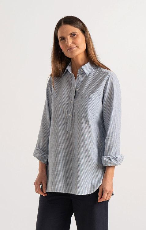 Boomerang - Petra Pop Over Shirt, Blue Nile