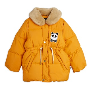 Mini Rodini - Panda Puffer Jacket, Orange
