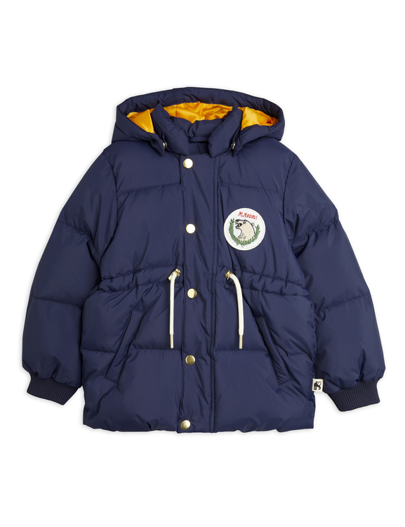 Mini Rodini - Polar Bear Patch Puffer Jacket, Navy