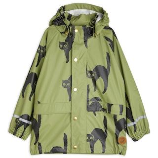 Mini Rodini - Catz Rain Jacket, Green