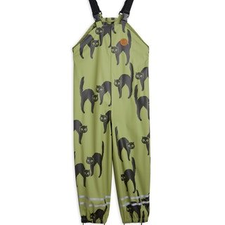 Mini Rodini - Catz Rain High Trousers, Green