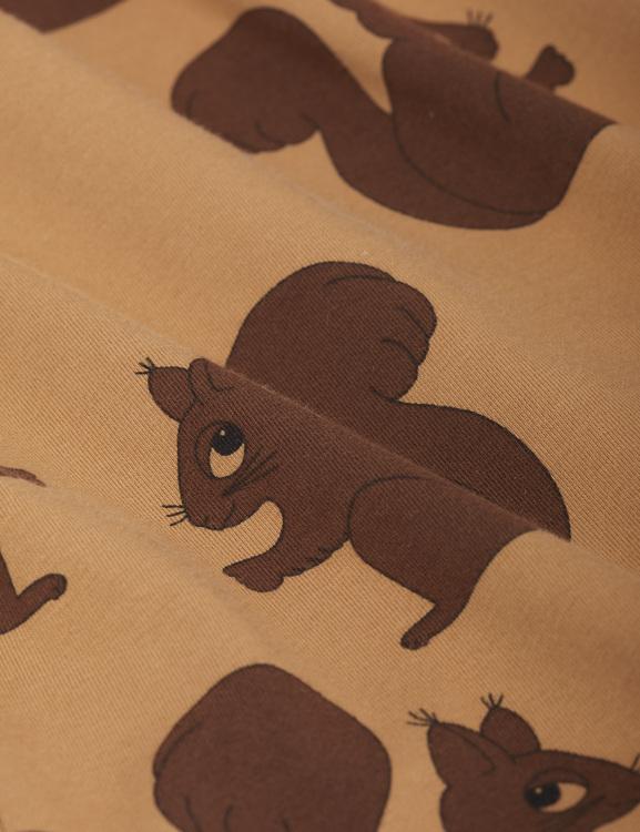 Mini Rodini - Squirrel Aop Raglan LS Tee, Brown