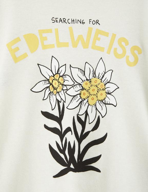 Mini Rodini - Edelweiss SP SS Tee, Offwhite