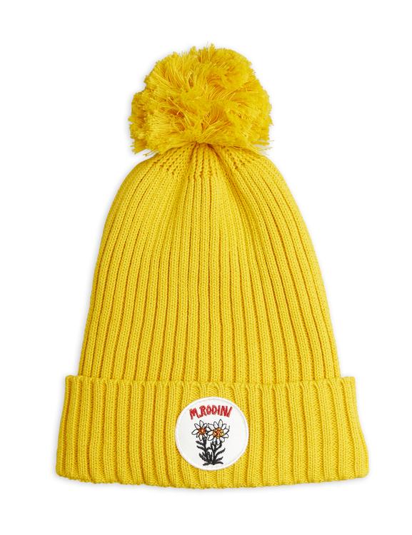 Mini Rodini - Edelweiss Pompom Hat, Yellow