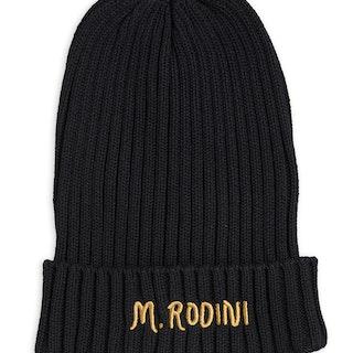 Mini Rodini - Fold Up Rib Hat, Black