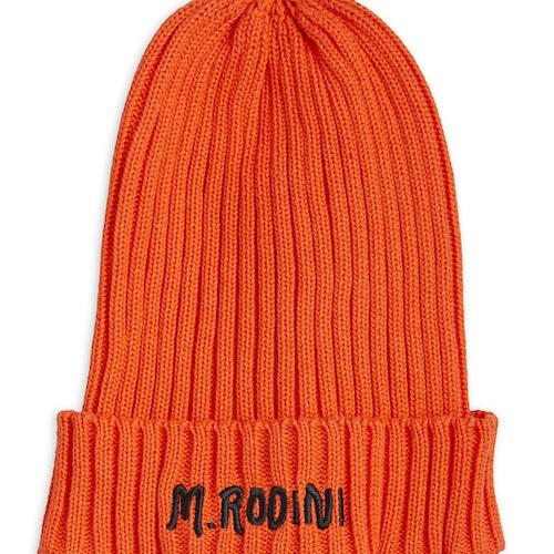 Mini Rodini - Fold Up Rib Hat, Red