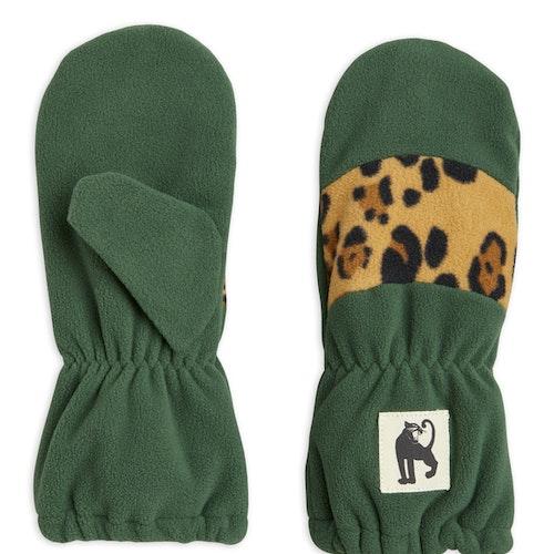 Mini Rodini - Fleece Mittens Stripe, Green