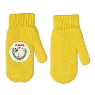 Mini Rodini - Polar Bear Knitted Mittens, Yellow