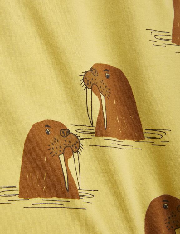 Mini Rodini - Walrus Aop Grandpa, Yellow