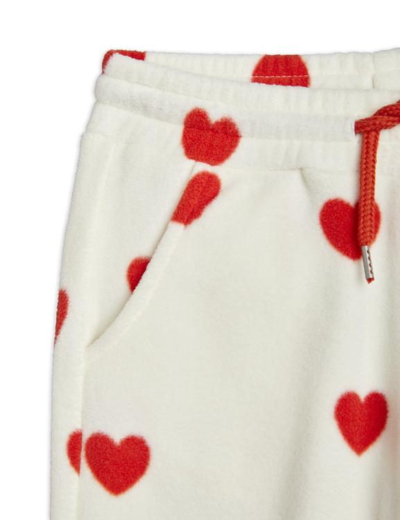 Mini Rodini - Hearts Fleece Pants, Offwhite