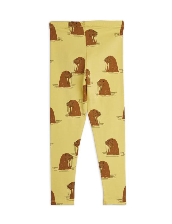 Mini Rodini - Walrus Aop Leggings, Yellow