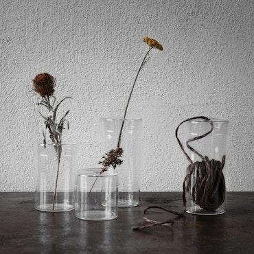 ernst glasvas med lock H 7cm