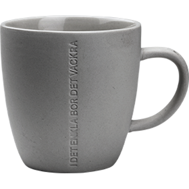 ernst mugg H 11cm grå