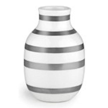 Kähler omaggio vas H 12,5 cm silver
