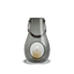 Holmegaard lanterna smoke H 25 cm