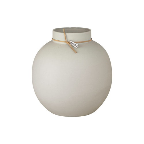 ernst vas i stengods H22 cm D21 cm natur